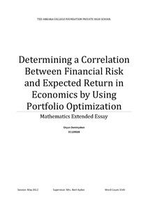 Portfolio optimization with a